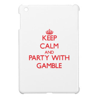 Keep calm and Party with Gamble Case For The iPad Mini