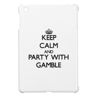 Keep calm and Party with Gamble iPad Mini Covers