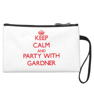 Keep calm and Party with Gardner Wristlet Purses