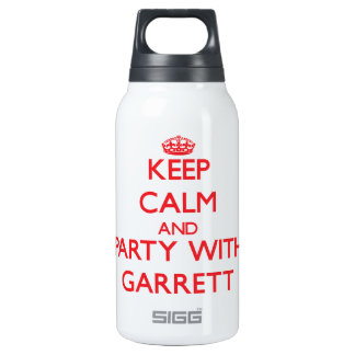 Keep calm and Party with Garrett 10 Oz Insulated SIGG Thermos Water Bottle
