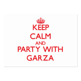 Keep calm and Party with Garza Business Card