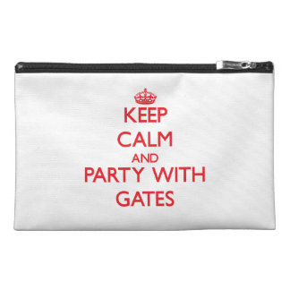 Keep calm and Party with Gates Travel Accessory Bags