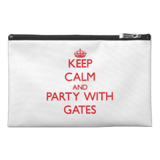 Keep calm and Party with Gates Travel Accessory Bag