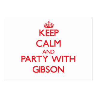 Keep calm and Party with Gibson Business Card Templates