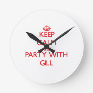 Keep calm and Party with Gill Wallclock