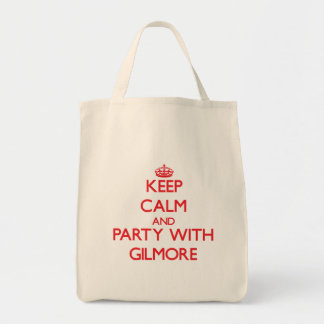 Keep calm and Party with Gilmore Tote Bags