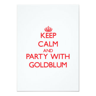 Keep calm and Party with Goldblum 5x7 Paper Invitation Card