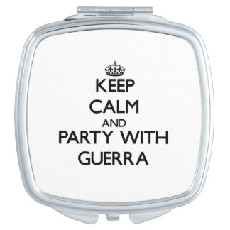 Keep calm and Party with Guerra Vanity Mirror