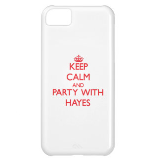 Keep calm and Party with Hayes Cover For iPhone 5C
