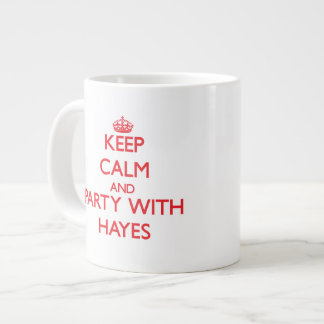 Keep calm and Party with Hayes Extra Large Mugs