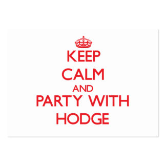 Keep calm and Party with Hodge Business Card Template