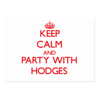 Keep calm and Party with Hodges Business Card Template