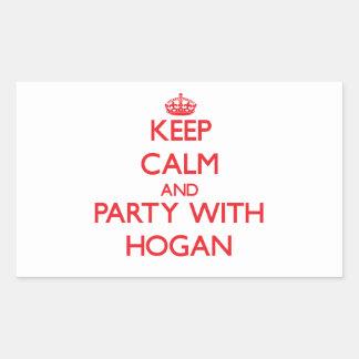 Keep calm and Party with Hogan Rectangular Sticker