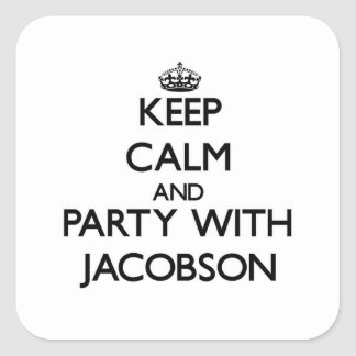 Keep calm and Party with Jacobson Stickers