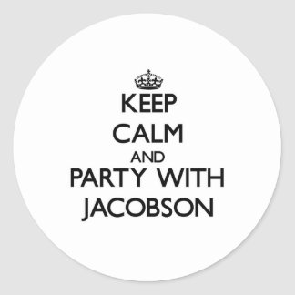 Keep calm and Party with Jacobson Sticker