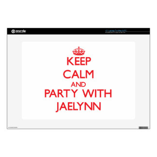 """Keep Calm and Party with Jaelynn Decal For 15"""" Laptop"""