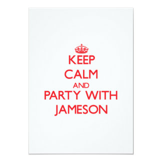 Keep calm and Party with Jameson 5x7 Paper Invitation Card
