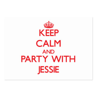 Keep calm and Party with Jessie Large Business Cards (Pack Of 100)