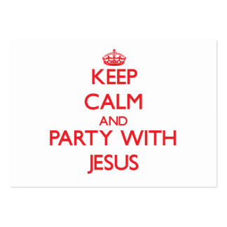 Keep calm and Party with Jesus Business Card Template