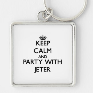 Keep calm and Party with Jeter Keychains