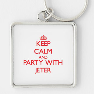 Keep calm and Party with Jeter Keychain
