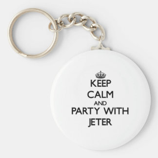 Keep calm and Party with Jeter Key Chain