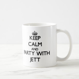Keep Calm and Party with Jett Classic White Coffee Mug