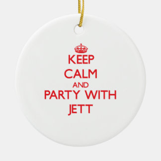 Keep calm and Party with Jett Christmas Tree Ornament