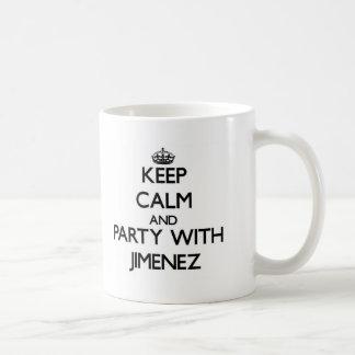 Keep calm and Party with Jimenez Classic White Coffee Mug
