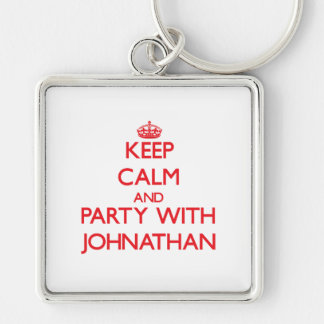 Keep calm and Party with Johnathan Keychains