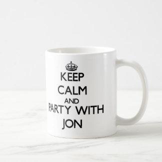 Keep Calm and Party with Jon Coffee Mug