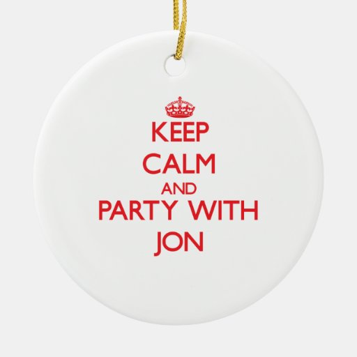 Keep calm and Party with Jon Christmas Tree Ornaments