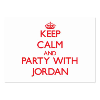Keep calm and Party with Jordan Business Cards