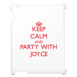 Keep calm and Party with Joyce iPad Cases