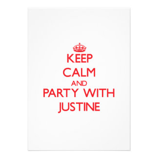 Keep Calm and Party with Justine Announcement