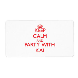 Keep calm and Party with Kai Shipping Label