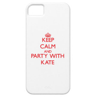 Keep Calm and Party with Kate iPhone 5 Covers
