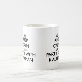 Keep calm and Party with Kaufman Classic White Coffee Mug