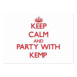 Keep calm and Party with Kemp Business Card