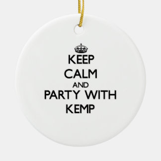 Keep calm and Party with Kemp Christmas Ornaments