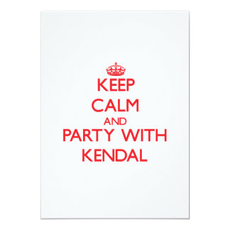 Keep Calm and Party with Kendal Personalized Invite