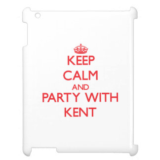 Keep calm and Party with Kent iPad Cases