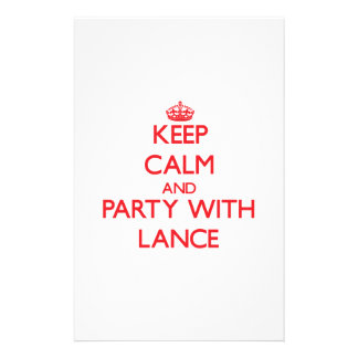 Keep calm and Party with Lance Custom Stationery