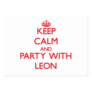 Keep calm and Party with Leon Business Card