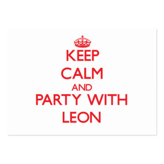 Keep calm and Party with Leon Business Card Template
