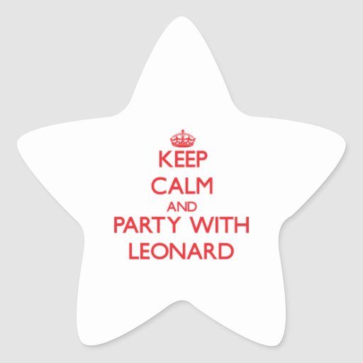 Keep calm and Party with Leonard Stickers