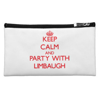 Keep calm and Party with Limbaugh Cosmetic Bags