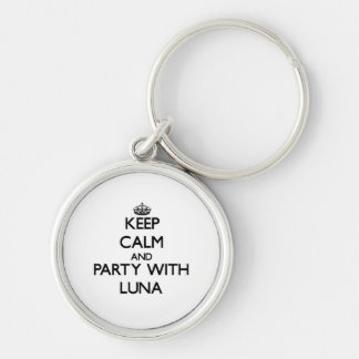 Keep calm and Party with Luna Keychain