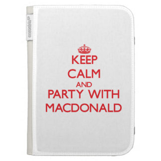 Keep calm and Party with Macdonald Kindle Keyboard Cases