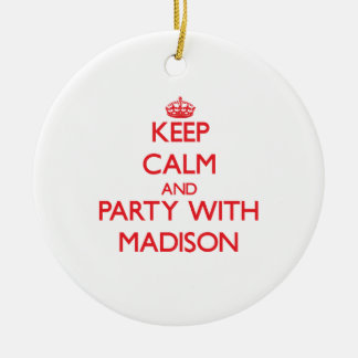 Keep Calm and Party with Madison Christmas Ornaments